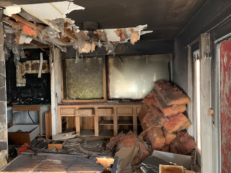 benefit of selling a house after fire